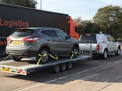 ENDE transported a Nissan Qashqai from Cheltenham to Winsford by trailor.